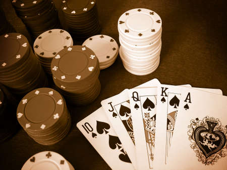 Playing Cards Poker Chips Stock Photo - 377837