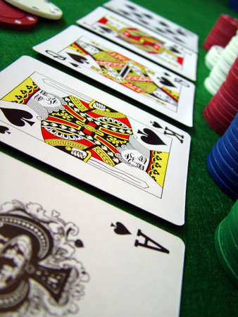 luckiness: Playing Cards Poker Chips Editorial