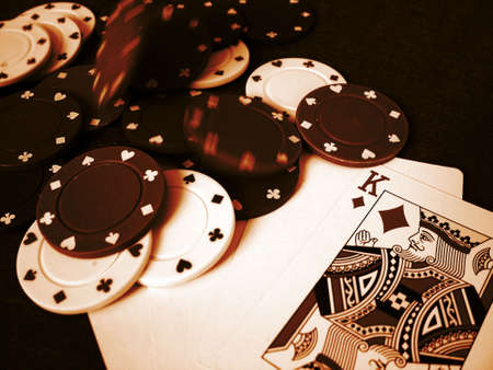 Playing Cards Poker Chips Stock Photo - 377823