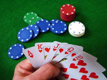 jetons poker: Jeu Des Morceaux De Tisonnier De Cartes Banque d'images