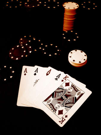 Playing Cards Poker Chips Stock Photo - 377818