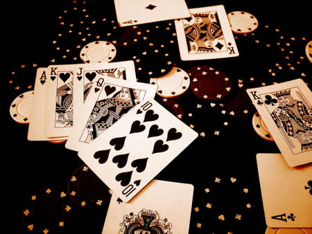 Playing Cards Poker Chips Stock Photo - 377814