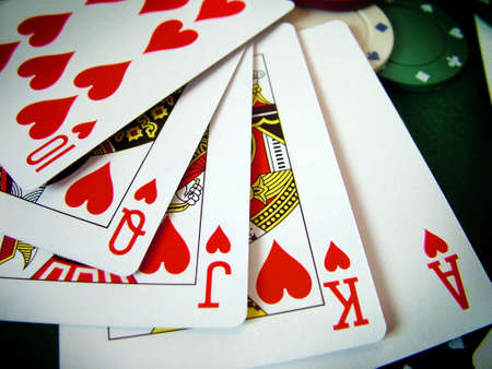 jetons poker: Playing Cards Poker Chips Banque d'images