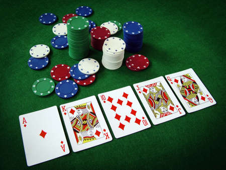 casino dealer: Cards Playing Cards Poker Chips