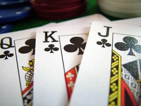 jetons poker: Cartes � jouer Cartes Poker Chips Banque d'images