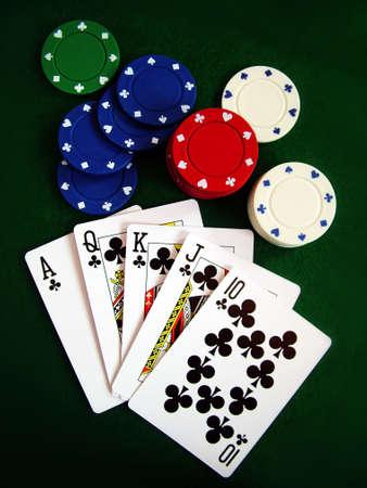Karten Spielkarten Poker-Chips