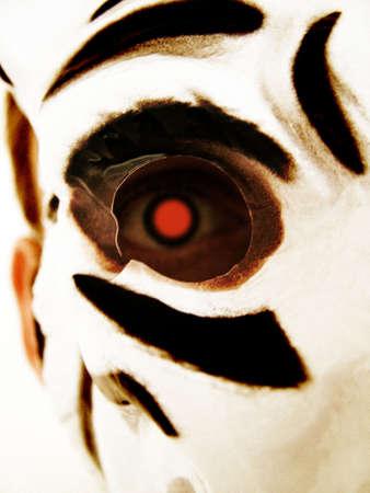 White Tiger Maske  Lizenzfreie Bilder