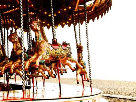 merry go round: Carousel horses
