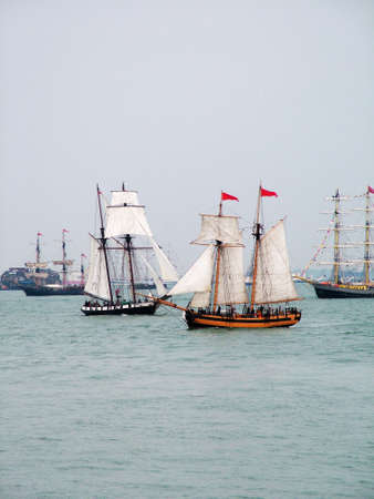 Tall sail Ships Stock Photo