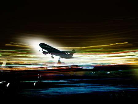 pilot cockpit: aircraft taking off