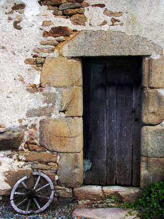 rustic wooden door photo