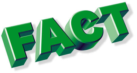 fact: fact lettering Stock Photo