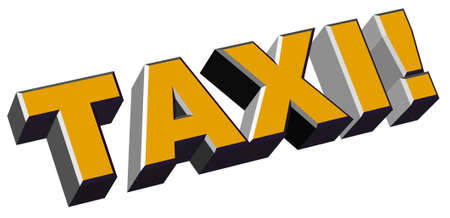 extruded: Taxi lettering