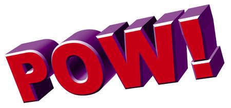 pow: pow word Stock Photo