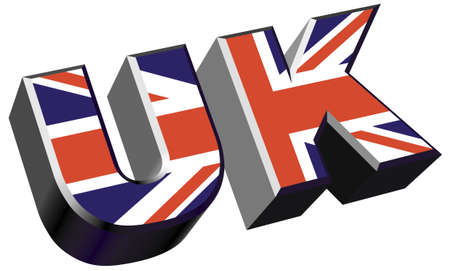 extruded: uk lettering