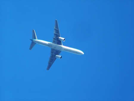 Aeroplane in blue sky Stock Photo - 388418