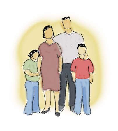 buddies: family illustration