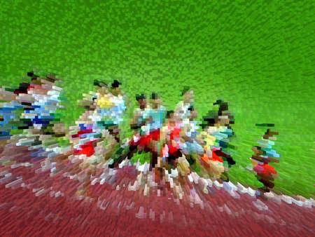 runner up: Athletic runners Stock Photo