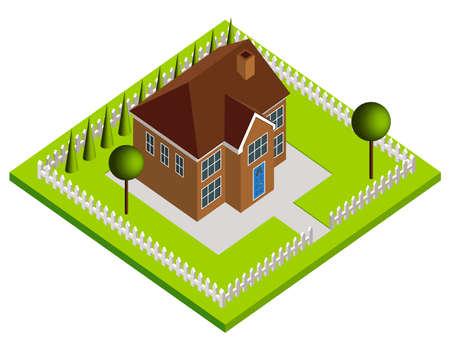 3d bungalow: House