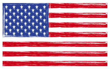 old flag: usa flag Stock Photo
