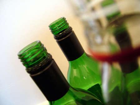 anti racist: Wine Bottles Stock Photo