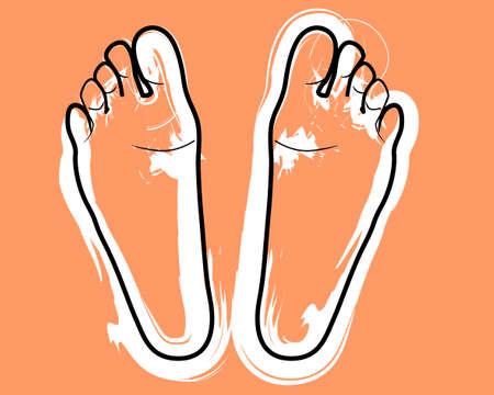 metaphorical: feet Stock Photo
