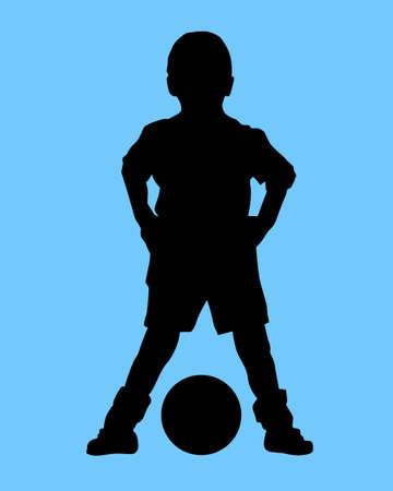 futbol soccer: boy and ball Stock Photo