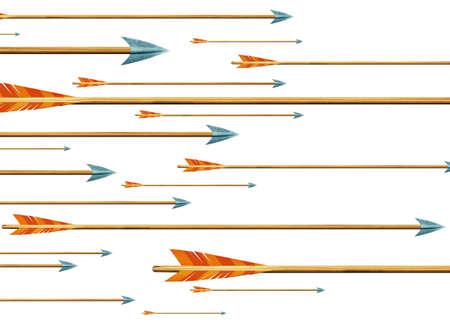 bow and arrow: arrows Stock Photo