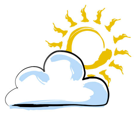 sun and cloud Stock Photo - 490724