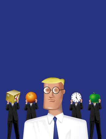 authoritative: business men