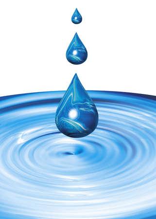 distilled water: liquid drops