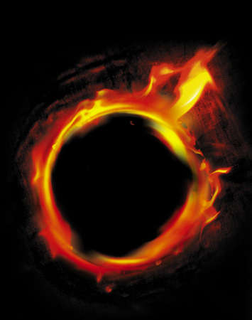 fire circle: ring of fire Stock Photo