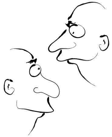 opposite: cartoon men