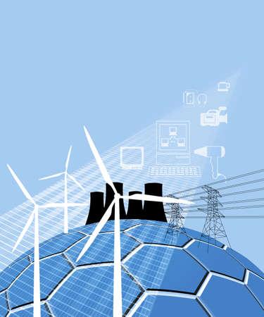 steel mill: Wind energy Stock Photo
