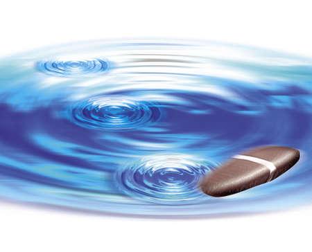 skimming pebble