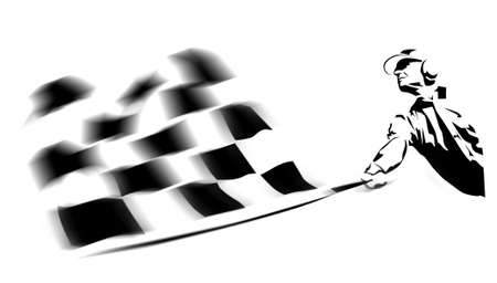 chequer: winning flag Stock Photo