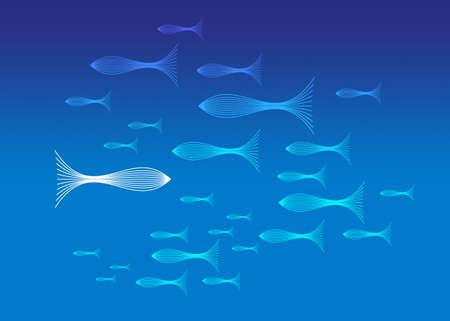 follow the leader: Fish Stock Photo