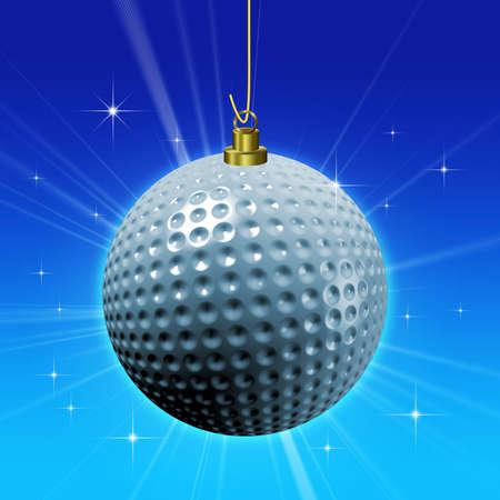 christmas golf: Golf ball