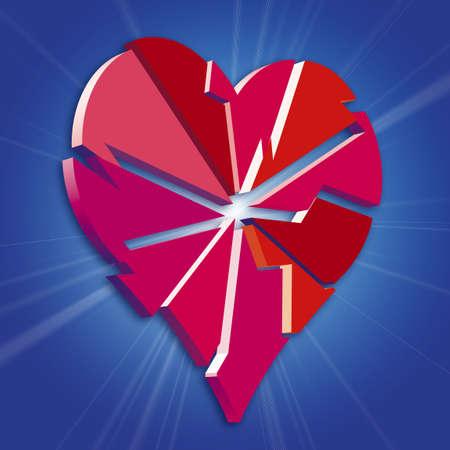 radiosity: Broken Heart Stock Photo