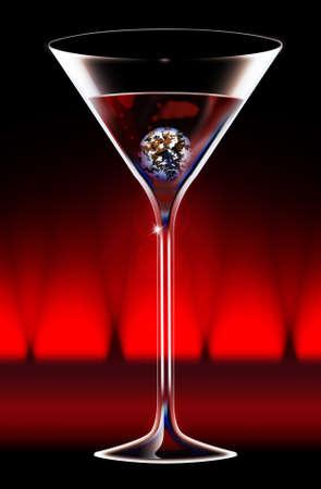 sean: Cocktail Stock Photo