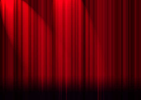 curtain: red curtain
