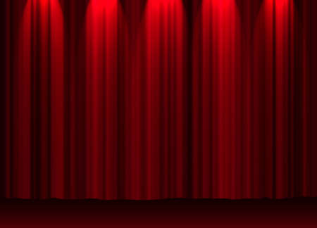 letras musicales: Teatro cortina  Foto de archivo