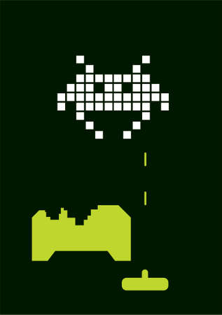 Space Invader Vector