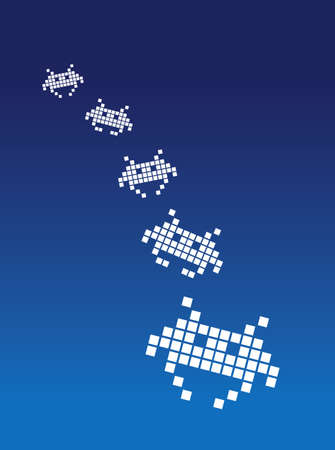 Space invaders Stock Photo - 719425