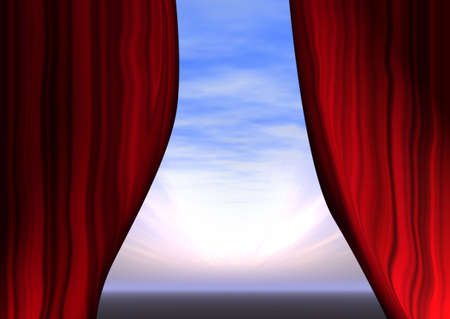 entertaining presentation: opening curtains