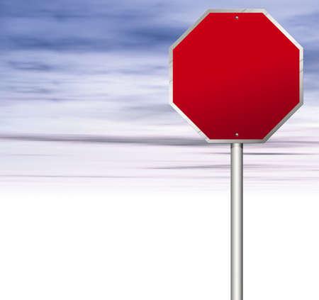 halt: Stop sign Stock Photo