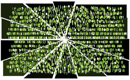 Cracked data Stock Photo - 792008