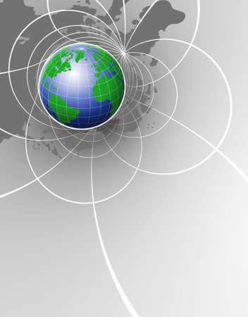 populated: World Background Stock Photo