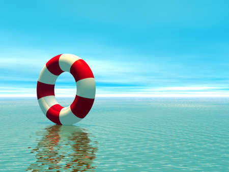 life bouy: Life Aid Stock Photo