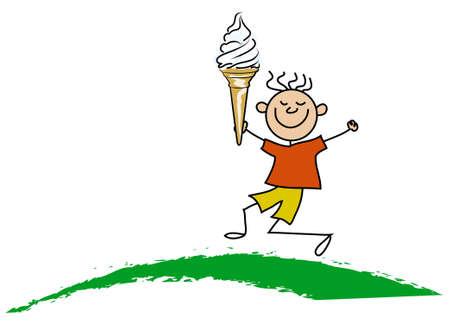 Boy with icecream photo